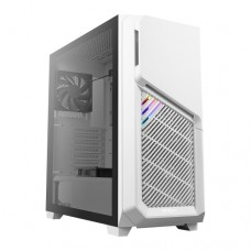 Antec DP502 FLUX RGB Gaming Case with Tempered Glass Window, ATX, No PSU, 5 x Fans (3 Front ARGB), Advanced Ventilation, White