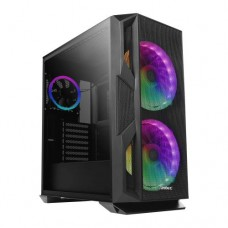 Antec NX800 E-ATX Gaming Case with Tempered Glass Window, No PSU, 3 x ARGB Fans, LED Control Button