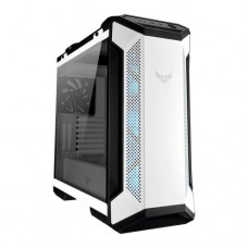 Asus TUF Gaming GT501 White Gaming Case w/ Window, E-ATX, No PSU, Tempered Smoked Glass, 3 x 12cm RGB Fans, Carry Handles