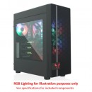 Riotoro CR400 Gaming Case w/ Window, ATX, No PSU, Mesh Front, 2 x 12cm Fans (Red LED Front Fan), USB 3.0