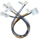 Akasa PWM Splitter - Smart Fan Cable, 4-pin, 3 x PWM Fans from 1 x  Motherboard Header