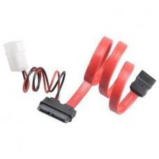 Akasa SATA Cable For Slimline Opticals, SATA+Molex to Mini SATA Power & Data, 40cm