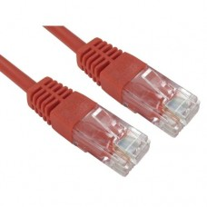 Modula Moulded CAT5e Patch Cable, 5 Metres, Full Copper, Red