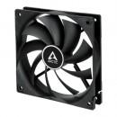 Arctic F12 Silent 12cm Case Fan, Black, 9 Blades, Fluid Dynamic, 6 Year Warranty