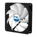 Arctic F12 Temperature Controlled 12cm Case Fan, Black & White, 9 Blades, Fluid Dynamic, 6 Year Warranty