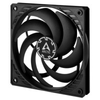 Arctic P12 Slim 12cm Pressure Optimised PWM PST Case Fan, Black, Fluid Dynamic, 300-2100 RPM, 10 Year Warranty