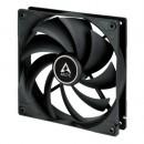 Arctic F14 Silent 14cm Case Fan, Black, 9 Blades, Fluid Dynamic, 6 Year Warranty