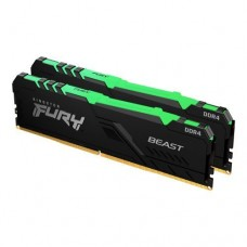 Kingston Fury Beast RGB 32GB Kit (2 x 16GB), DDR4, 3200MHz (PC4-25600), CL16, DIMM Memory