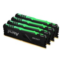 Kingston Fury Beast RGB 32GB Kit (4 x 8GB), DDR4, 3200MHz (PC4-25600), CL16, DIMM Memory