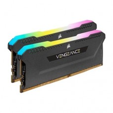 Corsair Vengeance RGB Pro SL 32GB Memory Kit (2 x 16GB), DDR4, 3600MHz (PC4-28800), CL18, XMP 2.0, Black