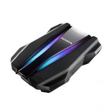 "ADATA HD770G 2TB RGB External Hard Drive, 2.5"", USB 3.2 Gen1, IP68, Military-Grade Tough, AES 256-bit Encryption, Black"