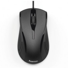 Hama MC-200 Wired Optical Mouse, 1000 DPI, USB, 3 Buttons, Black
