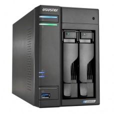 ASUSTOR AS6602T Lockerstor 2-Bay NAS Enclosure (No Drives), Quad Core CPU, 4GB DDR4, USB 3.2, 2 x 2.5G LAN,  2 x M.2 NVMe