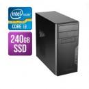 Modula MATX Tower PC, Antec VSK3000B, i3-10100F, 8GB, 240GB SSD, Asus GT710, Corsair 450W, DVDRW, KB & Mouse, No Operating System