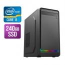 Modula MATX Tower PC, i3-10100F, 8GB, 240GB SSD, Asus GT710, Corsair 450W, DVDRW, KB & Mouse, Front ARGB LED Strip, No Operating System