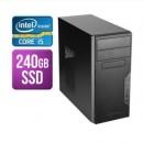 Modula MATX Tower PC, Antec VSK3000B, I5-10400F, 8GB, 240GB SSD, Asus GT710, Corsair 450W, DVDRW, KB & Mouse, No Operating System