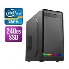Modula MATX Tower PC, i5-9400F, 8GB, 240GB SSD, Asus GT710, Corsair 450W, DVDRW, KB & Mouse, Front ARGB LED Strip, No Operating System
