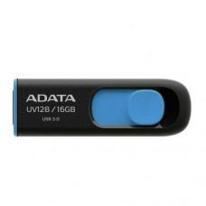 ADATA 16GB USB 3.0 Memory Pen, UV128, Retractable, Capless, Black & Blue