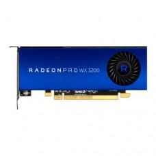 AMD Radeon Pro WX 3200 Professional Graphics Card, 4GB DDR5, 4 miniDP, 1.66TFLOPS, Low Profile
