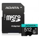 ADATA Premier Pro 512GB SDXC Card with SD Adapter, UHS-I Class 10 (U3), V30 Video Speed (4K), R/W 100/80 MB/s