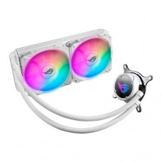 Asus ROG STRIX LC240 RGB 240mm Liquid CPU Cooler, Addressable RGB, 2 x PWM Fan, White