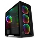 GameMax Kamikaze Pro Micro Tower 2 x USB 3.0 / 2 x USB 2.0 Tempered Glass Side Window Panel Black Case with Addressable RGB LED Fans