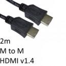 HDMI 1.4 (M) to HDMI 1.4 (M) 2m Black OEM Display Cable