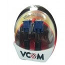 VCOM VGA (M) to VGA (M) 1.8m Black Retail Packaged Display Cable