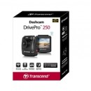 Transcend DrivePro 250 Full HD 1080P Dashcam With Built-in Wi-Fi and GPS Includes Suction Mount