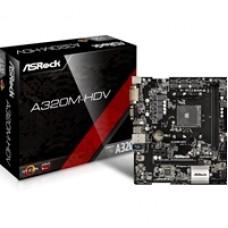 ASRock A320M-HDV R4.0 AMD Socket AM4 Ryzen Micro ATX DDR4 D-Sub/DVI-D/HDMI Ultra M.2 USB 3.1 Motherboard