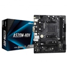 ASRock A520M-HDV AMD Socket AM4 Micro ATX HDMI/VGA/DVI M.2 USB 3.2 Gen1 Motherboard