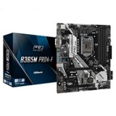 ASRock B365M Pro4-F Intel Socket 1151 DDR4 Micro ATX VGA/HDMI/DVI-D USB C 3.2 M.2 Motherboard