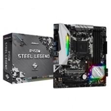 ASRock B450M Steel Legend AMD Socket AM4 Micro ATX HDMI/DIsplayPort DDR4 M.2 USB C 3.1 Motherboard