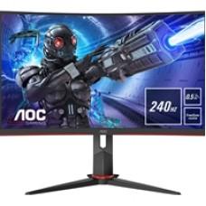 "AOC C27G2ZE/BK 27"" LED Widescreen HDMI/ DisplayPort Freesync 0.5ms Frameless Curved Monitor"