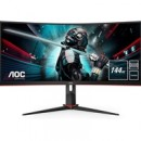 "AOC CU34G2X/BK 34"" WQHD 1ms VGA / HDMI / Display Port Freesync Height Adjustable Curved Monitor"