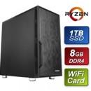 Antec AMD 3200G 3.6GHz Quad Core 8GB RAM 960GB SSD WiFi Card Prebuilt System