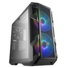 Cooler Master MasterCase H500M Full Tower 4 x USB 3.0 / 1 x USB 3.1 Type-C 4 x Tempered Glass Window Panels Iron Grey Case with Addressable RGB LED Fans & RGB Controller