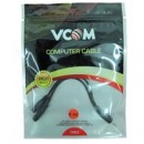 VCOM 3.5mm (M) Stereo Jack to 2 x 3.5mm (F + F) Stereo Jack Splitter 0.2m Black Retail Packaged Cable