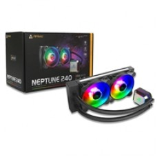 Antec Neptune 240 Universal Socket 240mm PWM 1600RPM ARGB LED AiO Liquid CPU Cooler with Wired ARGB Fan Controller
