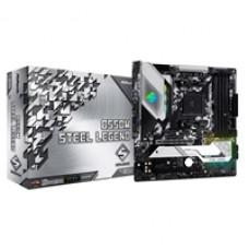 ASRock B550M Steel Legend AMD Socket AM4 Micro ATX HDMI/DisplayPort Dual M.2 USB C 3.2 RGB Motherboard