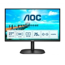 "AOC 27B2AM 27"" LED Widescreen Full HD VGA / HDMI Frameless Black Monitor"
