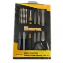 Sprotek Mobile Screen Repair Toolkit - 18 Piece Screwdriver set, prying tool, suction cups, SIM Card ejection tool