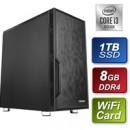 Antec Intel i3-10100 3.60GHz Quad Core 8GB DDR4 RAM 1TB SSD w Wireless Card Prebuilt System
