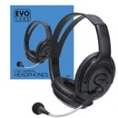 Evo Labs HP02 Gaming Headset with Mic, USB Powered Plug and Play, 40mm Audio Drivers with Inline volume and Microphone controls, Black