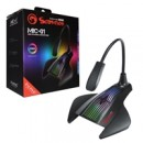 Marvo Scorpion MIC-01 RGB Gaming Microphone, USB Powered For PC or Laptop, Cool RGB Rainbow Lighting, Flexible Mic Boom-Arm, Sturdy Base, Black