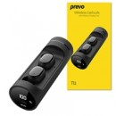 Prevo Ti2 TWS True Wireless Earbuds, Bluetooth 5.0 Connectivity, Automatic Pairing and Touch Control Feature with Digital LED Display Wireless Charging Case, Android, IOS and Windows Compatible, Black