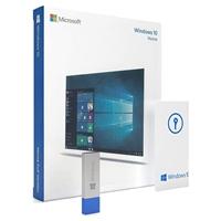 Microsoft Windows 10 Home 32/64bit Operating System Retail Box USB Flash Drive